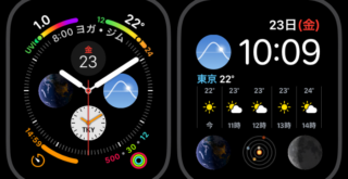 AppleWatch4文字盤「インフォグラフ」