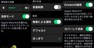 AppleWatch着信音設定